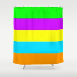 Neon Mix #4 Shower Curtain