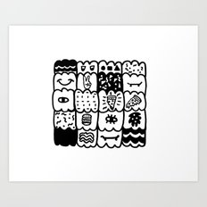 I am a pattern, pattern Art Print