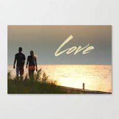 Love at Sunset Canvas Print