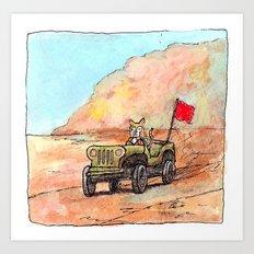 Sahara Cat Art Print