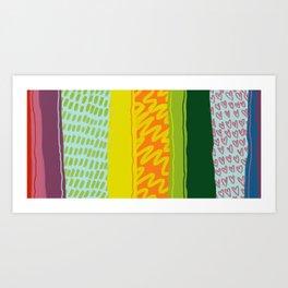 Happy Vibes Art Print