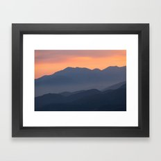 Mountain Sunset II (Big Bear Lake, California) Framed Art Print