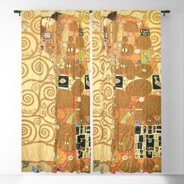 Lovers by Gustav Klimt 1909 // Cartoons for the Execution of a Frieze for the Dining Room of Stoclet Blackout Curtain