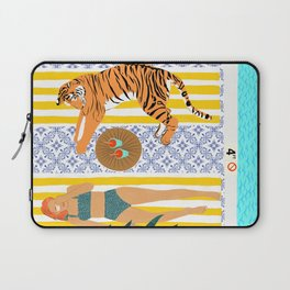 How To Vacay With Your Tiger #illustration Laptop Sleeve
