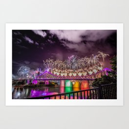 Brisbane Riverfire Art Print