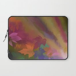 Autumn splendour, abstract painting with leaves Laptop Sleeve