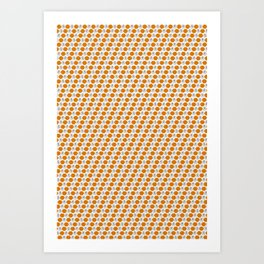Clockwork Orange Pattern Design Art Print