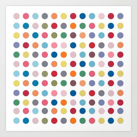 Polka Dots - Color Love Art Print