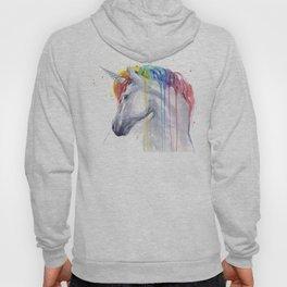 Rainbow Unicorn Watercolor Hoody