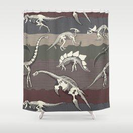Dinosaur's Dig Shower Curtain