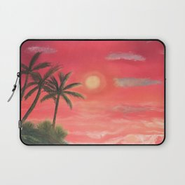 Palm trees swaying in the wind Laptop Sleeve