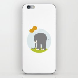 An Elephant With a Peanut Balloon iPhone Skin