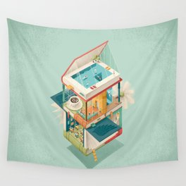 Creative house Wall Tapestry