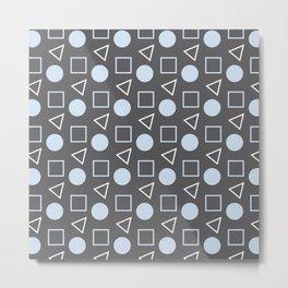 Geo Sprinkles Light Pastel Blue (Black Sesame) Metal Print