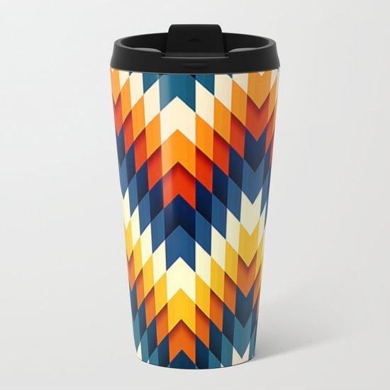 Wanderlust pattern Metal Travel Mug