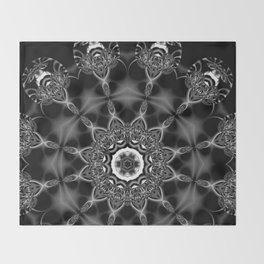 Mystic Night w/ Black and White Mandala Throw Blanket