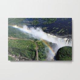 Rainbow Over Victoria Falls Metal Print