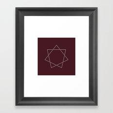#139 Septagram – Geometry Daily Framed Art Print