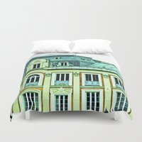 political Duvet Covers featuring Political building. by Alejandra Triana Muñoz (Alejandra Sweet