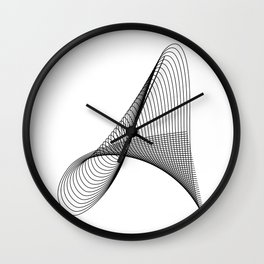 """Linear Collection"" - Minimal Letter A Print Wall Clock"