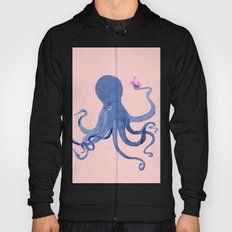 Blue Octopus and Butterfly Hoody