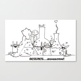 Science...Awesome! Canvas Print