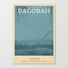 Retro Travel Poster Series - Star Wars - Dagobah Canvas Print