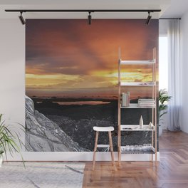 Sunset on the Rocks Wall Mural