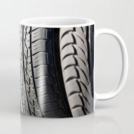 used black tires in row Coffee Mug