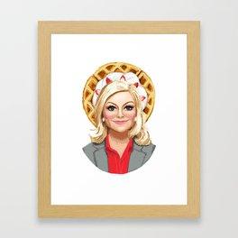Leslie Knope, Goddess of Girl Power & Waffles Framed Art Print