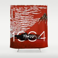 tokyo Shower Curtains featuring Tokyo by Artworks by PabloZarate Inc.