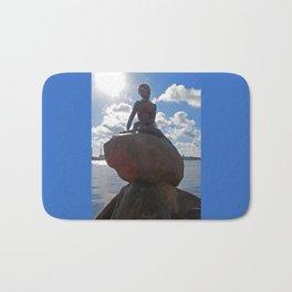 Little Mermaid Backlight Copenhagen Denmark Photograph Bath Mat