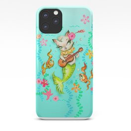 Mermaid Cat with Ukulele iPhone Case