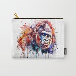 Gorilla Watercolor portrait Carry-All Pouch