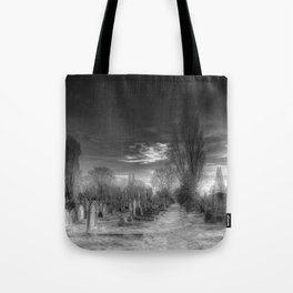 Ghostly Kensal Green Cemetery London Tote Bag