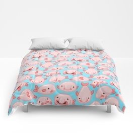 Blobfish Pattern Comforters