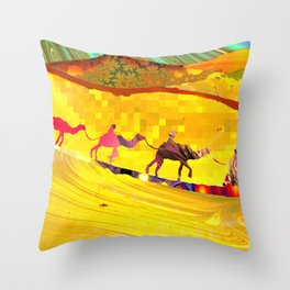 over the never ever ending sand Throw Pillow