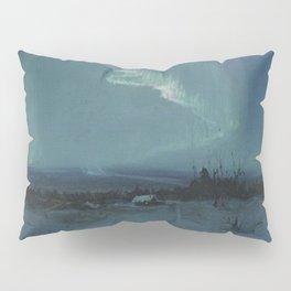 Northern Lights - Aurora Borealis Winter Scene by Sydney Lawrence Pillow Sham