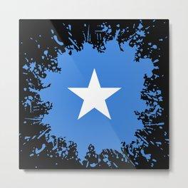 Somalia Flag Paint Splatter Metal Print