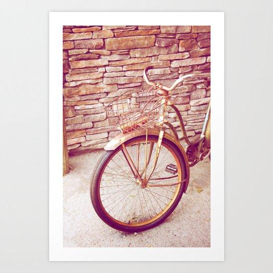 Rusty Spokes Art Print
