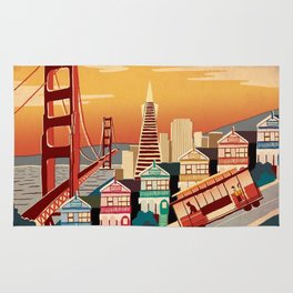 san francisco new art love illustration cute cover case skin floor pillow 2018 trend popular sticker Rug