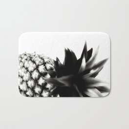 Black Pineapple Bath Mat