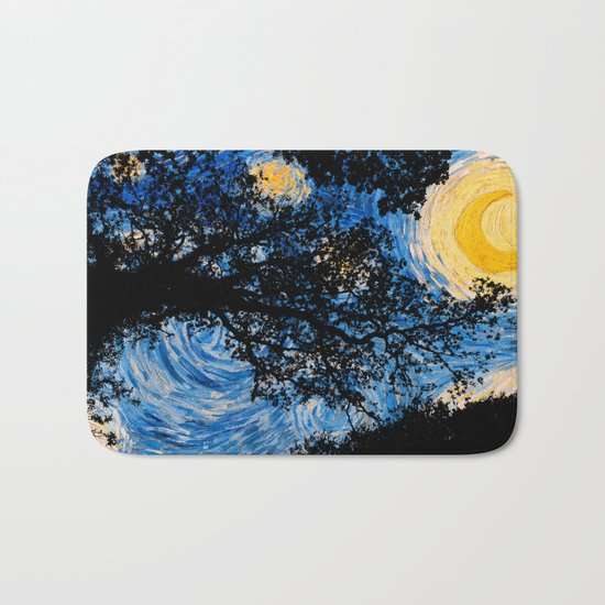 Starry Forest Night Bath Mat