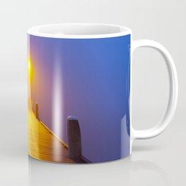 Jetty on a foggy morning at dawn Coffee Mug