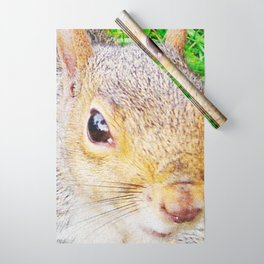 The many faces of Squirrel 5 Wrapping Paper