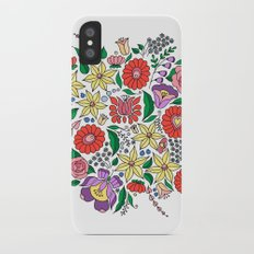 Hungarian embroidery motifs iPhone X Slim Case