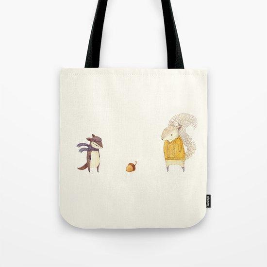 The Last Acorn of Autumn Tote Bag