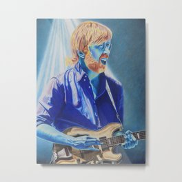Trey Anastasio in Blue Metal Print