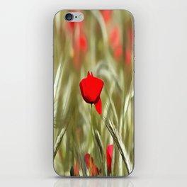 Hot Poppy iPhone Skin