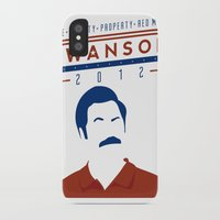 swanson iPhone & iPod Cases featuring Swanson 2012 by Clarke Hall